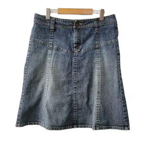 H&M Cotton A-Line Circle Denim High Waist Skirt